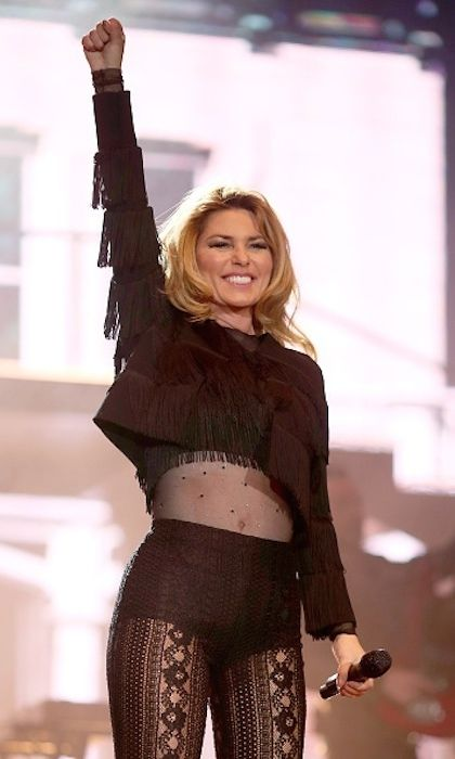 """In April 2017, Shania Twain impressed thousands of fans at the Stagecoach Festival in California. The Canadian songstress delighted revellers by performing a medley of her greatest hits before debuting her new single """"Life's About to Get Good."""" Photo: Getty Images"""