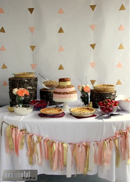 Peach and Gold Natural Baby Shower Brunch | Shop. Rent. Consign. MotherhoodCloset.com Maternity Consignment