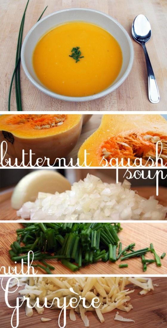 Butternut Squash Soup Forloublog.com | Delicioso | Pinterest