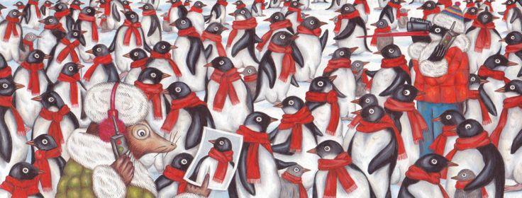 """Delphine Jacquot illustration for """"Les Aventures Improbables de Peter et Herman""""."""