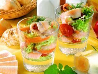 Matjes im Cocktailglas