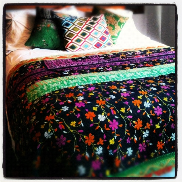 Another Favorite Vintage Kantha Quilt www.eclecticrhythm.com.au