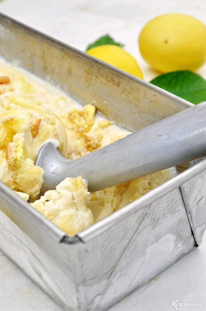Παγωτό lemon pie xωρίς παγωτομηχανή / No-churn lemon pie ice cream