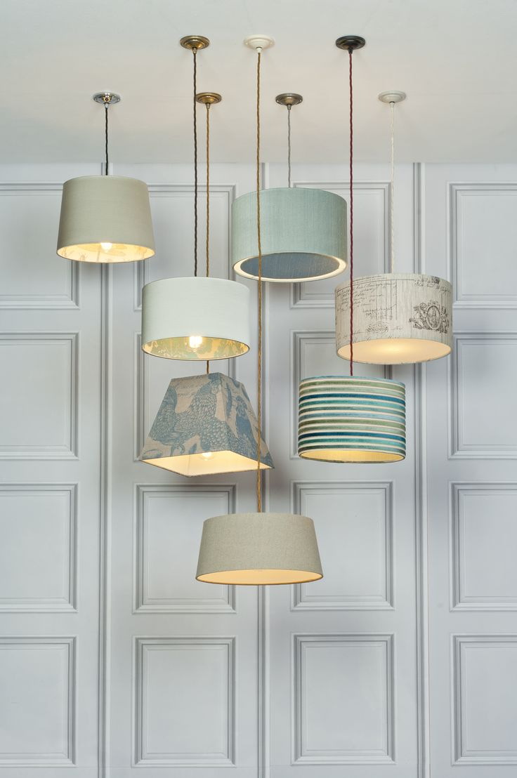 Stunning selection of Bespoke Lampshades with Pendant Lampholders to complete the look: http://www.jim-lawrence.co.uk/lampshadebuilder  combined with http://www.jim-lawrence.co.uk/ProductNode/10747/Pendant-Lamp-Holders