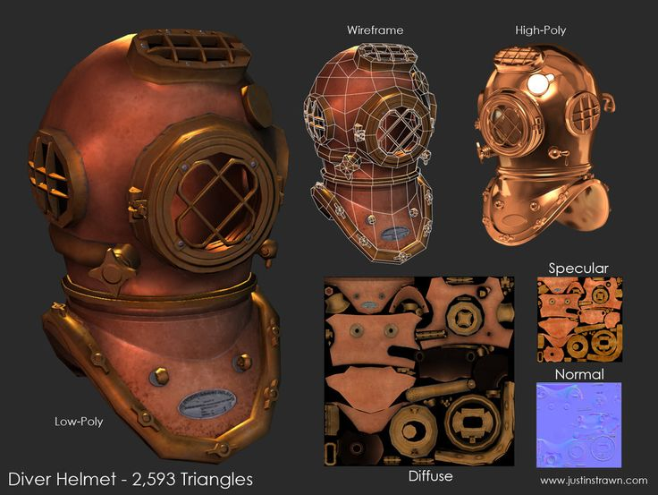 Diver Helmet by ~JustinMs66 on deviantART
