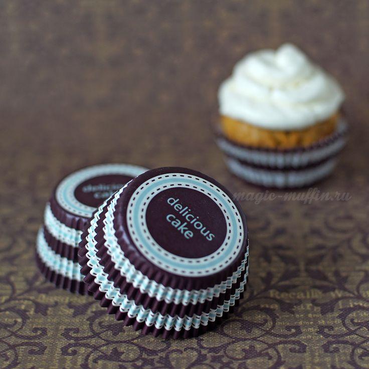 Формочки Delicious Cake, 12 шт. капкейк маффин торт декор крем выпечка рецепт cupcake muffin cake cup baking frosting decor birthday