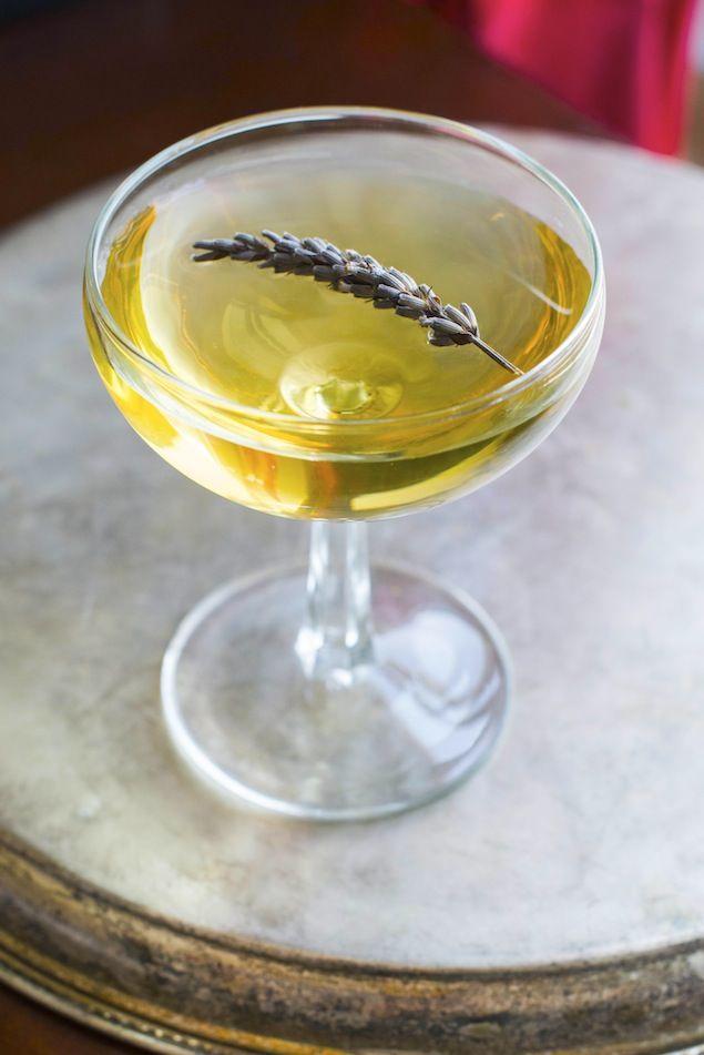 lavender green tea + gin cocktail.