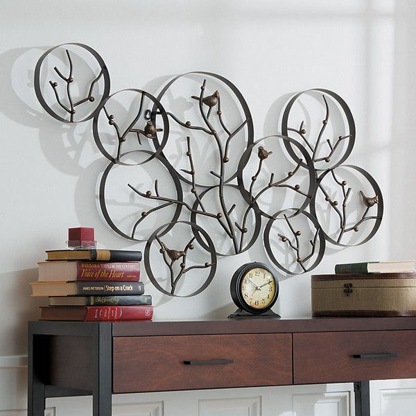 Metal Birds And Branches Wall Decor ($150) ❤ Liked On Polyvore Featuring  Home,