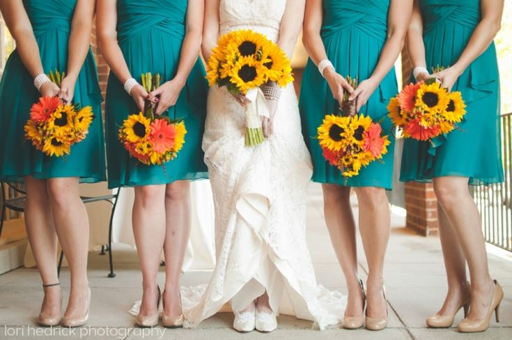 Sunflowers and teal wedding!  Natural Bridge Virginia  |  Lori Hedrick Photography » Lori Hedrick Photography | Roanoke Virginia Photographer