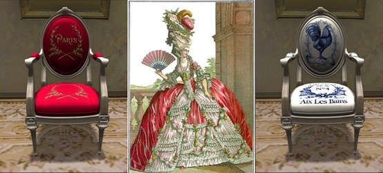 My first foray into French Ephemera via Second Life.  I'm sure it won't be my last as I'm absolutely enchanted with the idea.  After all, what can be more ephemeral than virtual furniture! | French Ephemera: Paris et Poulet | #SecondLife #ephemera