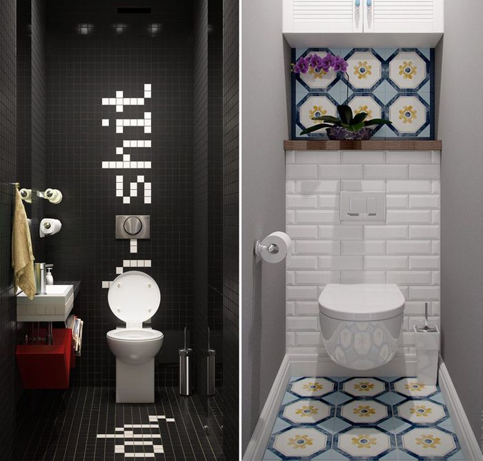 Маленький туалет — не приговор: 26 нескучных примеров