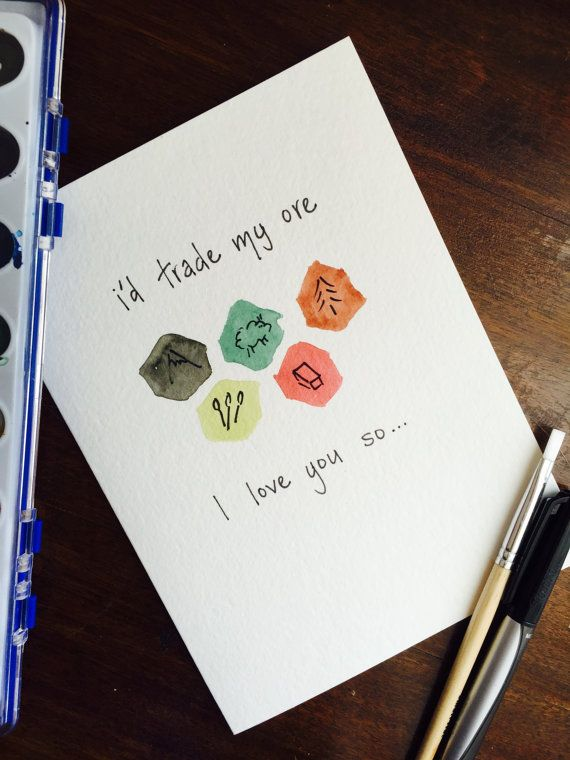 Settlers of Catan Greeting Card for Couples from ThePastelPineapple on Etsy