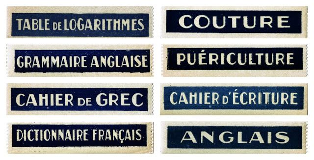 Antique Graphics Wednesday - French School Labels