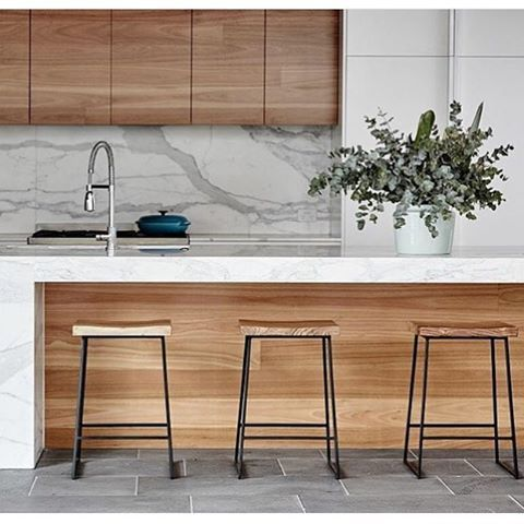 NEW • SHELTER STOOLS • available to order with white or black legs 🙌 ✖️$399 ✖️call 03 9770 2233 phone orders ✖️we SHIP AUST WIDE ✖️www.myndinteriors.com.au #kitcheninspo #kitchenstyling #kitchenstools #timberkitchen #whiteandtimber #industrialstool