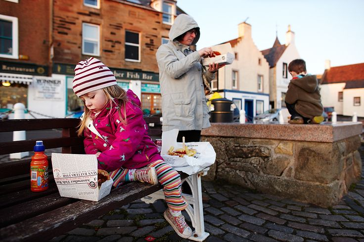 Family plus a Fish Supper in Anstruther Fife....if Carlsberg made moments...