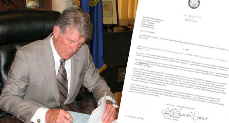 Idaho Governor Signs Permitless Carry into Law--Congratulations Idaho-you're taking back your sovereign nation!