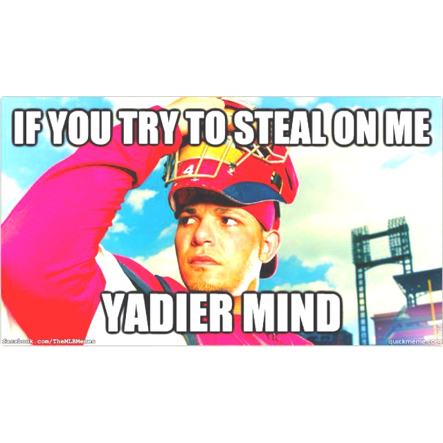 Are you Yadier mind?!? #STLCards