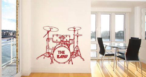 Musical wall decal If you like playing music and you are missing space to get the instrument, this wall sticker is perfect for you.   Visit this link for more designs: https://limelight-vinyl.myshopify.com/