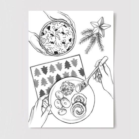 #christmas #christmastable #illustration #drawing
