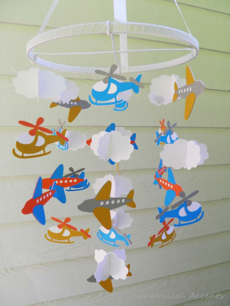 On the Go Baby Paper Mobile with Airplanes,