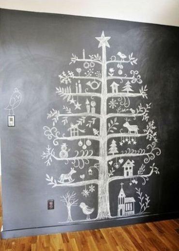 Alternative Chalk Christmas Tree