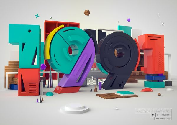 1991 - Typography by Ben Fearnley, via Behance