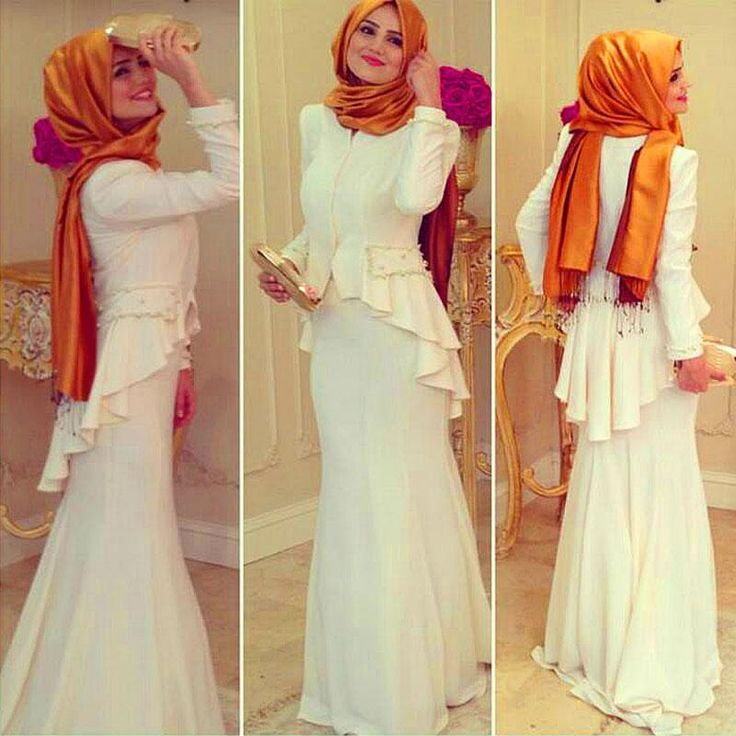 Dubai Evening Gowns, Muslim Mermaid Evening Dresses, white long dresses