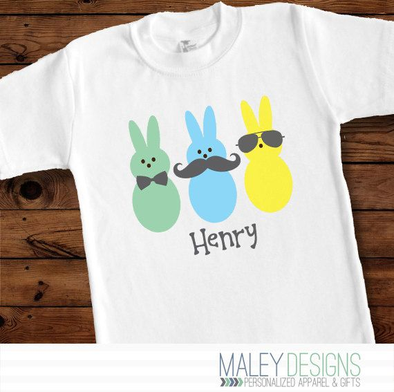 Personalized Boy Easter Peeps Shirt  Girl Version: