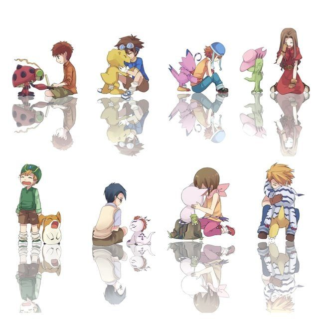 Digimon Adventure Digimon and their partners The Digidestined.