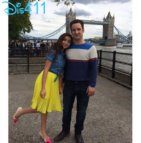 Love her outfit! Photo: Ben Savage & Rowan Blanchard Enjoying London July 27, 2014 #GMW   Follow Jeyna Gonzales!