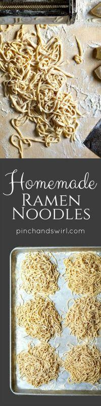 Great ramen noodle recipe. Non-alkaline (i.e. no baked soda)