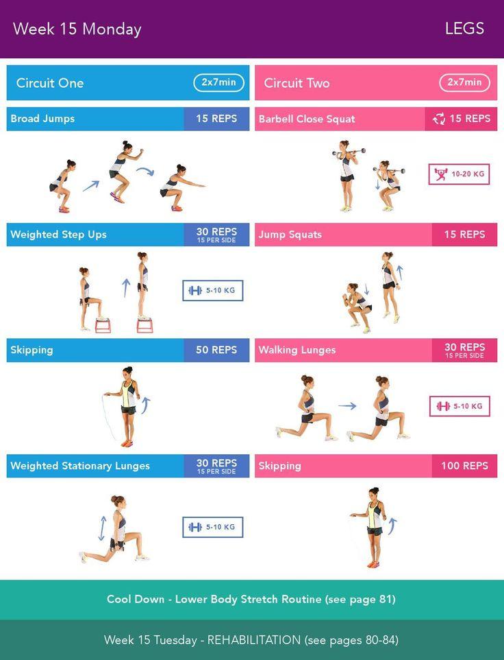 Best 25 bikini body guide ideas on pinterest bbg workouts week 15 monday bikini body guide 20 by kayla itsines weeks 13 24 fandeluxe Image collections