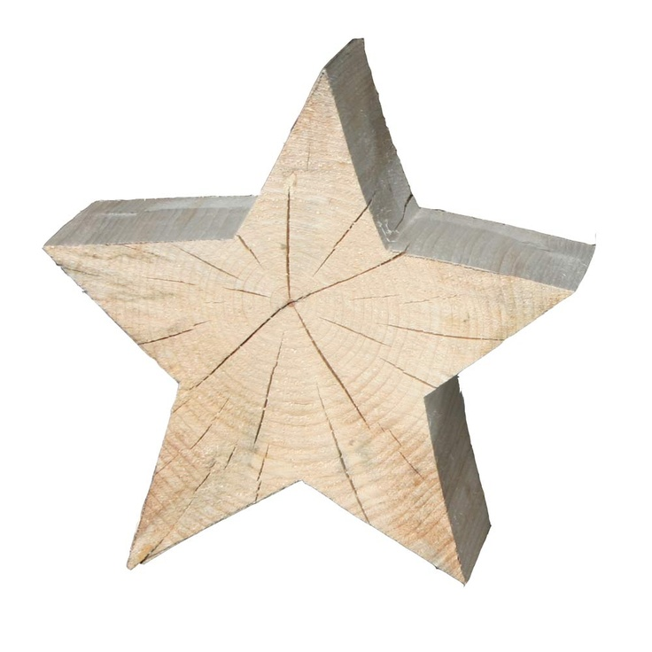 hand-made, wooden christmas star from black forest