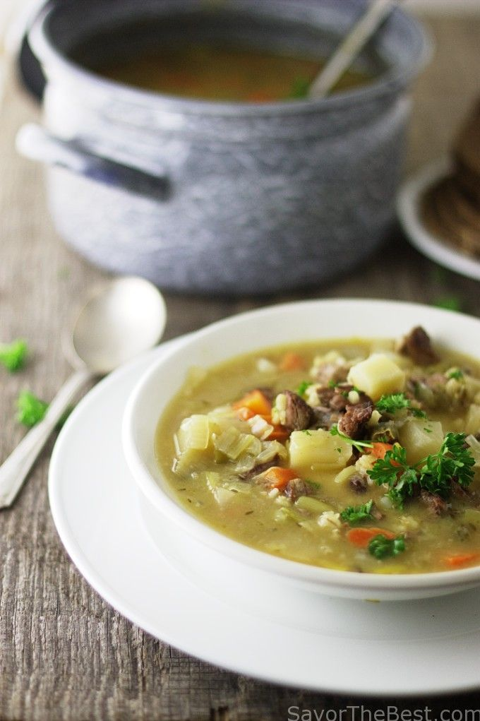 Scotland's classic scotch broth is a soul-warming soup that is enjoyed with crusty bread and cheese during the cold, blustery winter days.