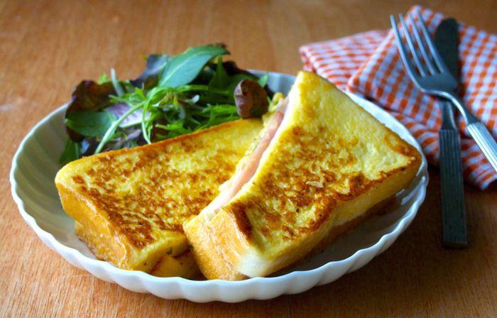 クロックムッシュよりも簡単♪チーズがジュワっ「モンティクリスト」で優雅な朝食を楽しみましょう♪