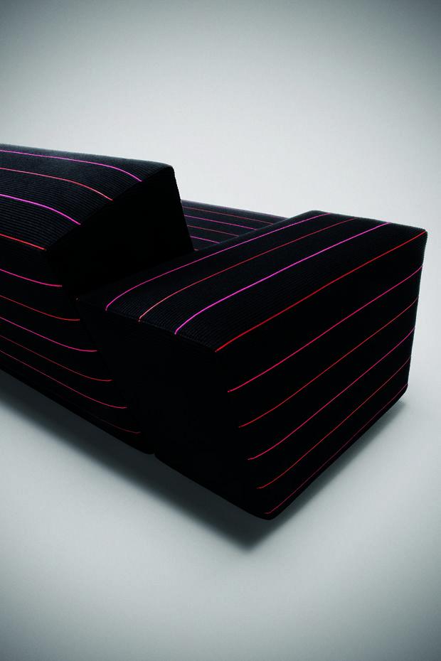 Monica Förster Design Studio, PINSTRIPE Sofa system, Tacchini, 2006
