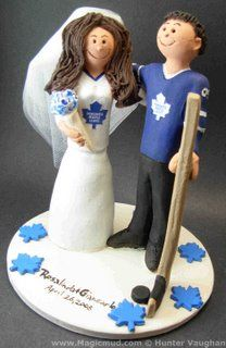 Wedding Cake Topper of the Day...Toronto Maple Leafs Cake Topper | custom wedding cake toppers