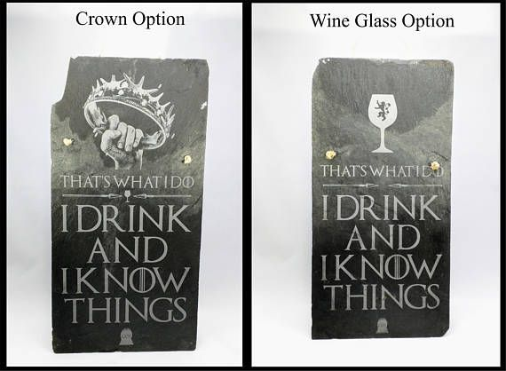 Laser Etched Game of Thrones Hangable Slate Shingle. I have two options: 1. classic crown 2. wine glass. The Shingle These are repurposed slate shingles from a very old house, I am not sure of the age but you can see square nail holes in many of these.Looking up the history of