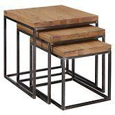 John Lewis Calia Nest Of 3 Tables | Oak at John Lewis