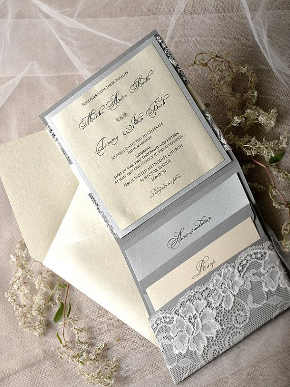 Custom Listing 20 Silver and Grey Wedding by forlovepolkadots