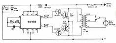 Circuito inversor 12V cc 110 - 220 AC - 20-40 W