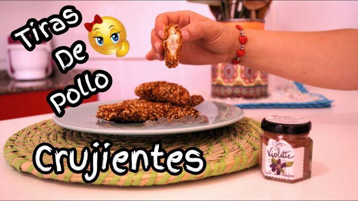 Tiras de pollo crujientes / receta casera /