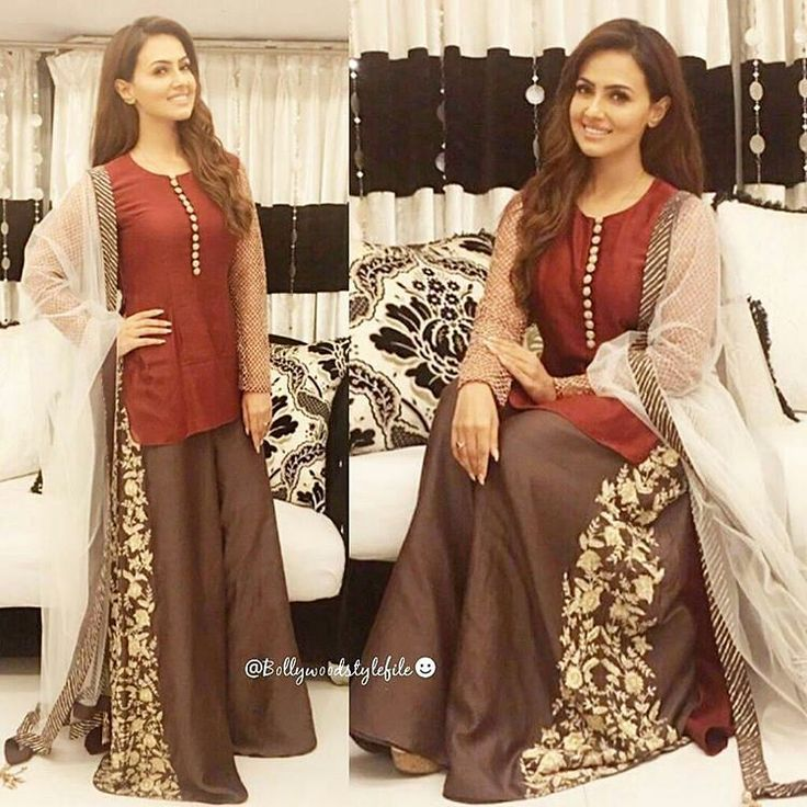Sana Khan in a Payal Singhal outfit for an event. @BollywoodStylefile