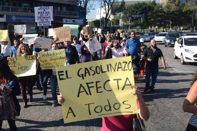 MARCHA CONTRA EL GASOLINAZO, PARTIDOS Y REFORMAS ESTRUCTURALES. 09/01/ 2017, 4 pm, Ángel