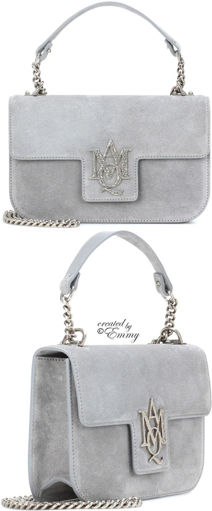 Emmy De Alexander Mcqueen Insignia Chain Satchel Ss 2017 Designer Pursesdesigner Handbagsgrey