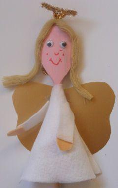 Wooden Spoon Angel