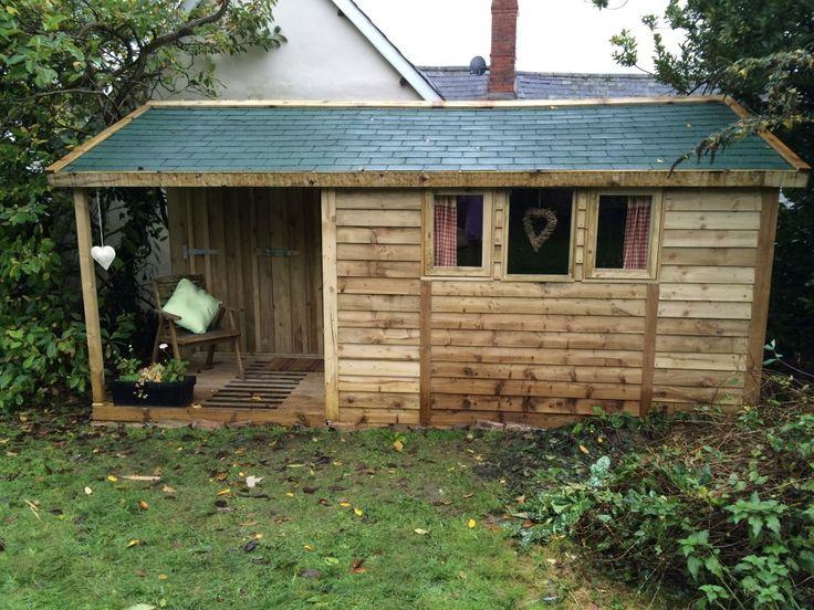 featheredge garden studio. Garden Office felt shingles - The Wooden Workshop, Bampton, Devon