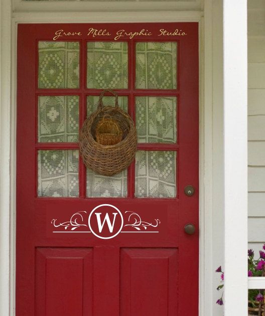 Monogram Front Door Decoration: 25+ Best Ideas About Door Monogram On Pinterest