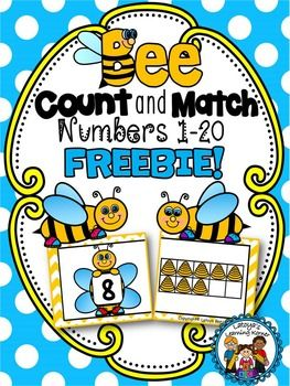 This package offers a >   SPRING THEMED MATH MATCHING CENTER ACTIVITY SUITABLE FOR PRE-KINDERGARTEN AND KINDERGARTEN ages students    This resources targets counting and cardinality CCSS objective: K.CC.B.4.A>   This resource includes    20 Bee puzzle Cards numbered from 1-20Students match the number with the correct ten frame showing the correct quantity.I am new to TPT and would appreciate hearing from you!