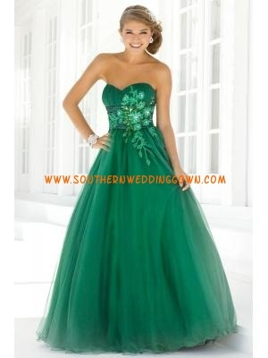 Empire Sweetheart Princess Applique Tulle Customized Prom Gown for Ball 2013